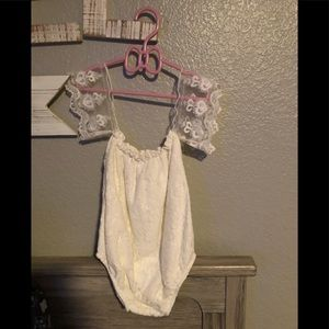 Cream Laced Romper Size 12 Months